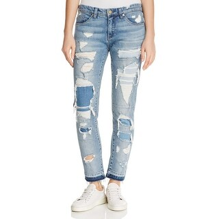 Blank NYC Womens Girlfriend Jeans Cropped Mid-Rise