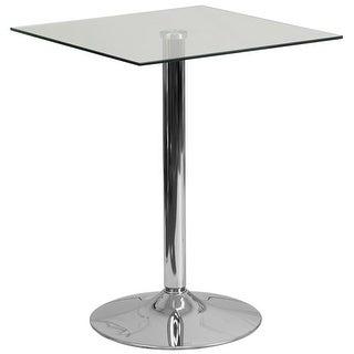 Dyersburg 23.75'' Square Glass Table w/30''H Chrome Base for Restaurant/Bar/Pub