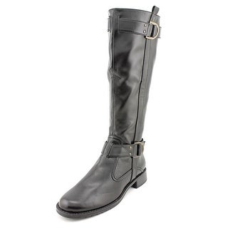 Aerosoles Ride Line Women W Round Toe Synthetic Black Knee High Boot