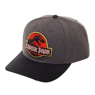 Jurassic Park Hat Classic Logo Curved Snapback Cap