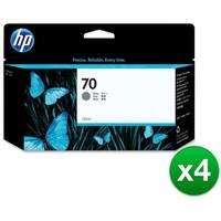 HP 70 130-ml Gray DesignJet Ink Cartridge (C9450A) (4-Pack)