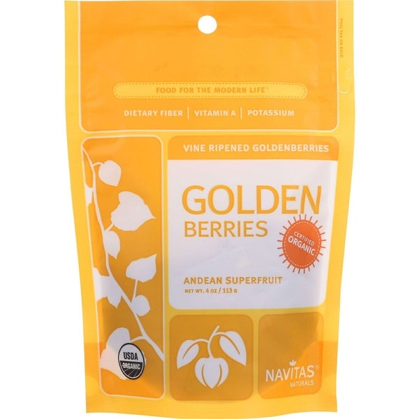 Navitas Naturals Goldenberries - Organic - 4 oz - case of 12