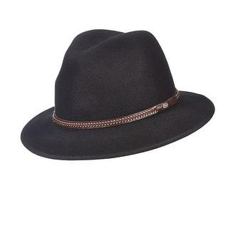 d5fbb3b9c36 Scala Classico Men s Water Repellent Wool Felt Safari Hat
