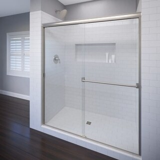 "Basco A0053-60CL Classic 70"" High x 60"" Wide Bypass Framed Shower Door with Clear Glass"