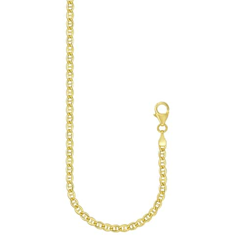 """Forever Last 10 K Gold Bonded over Silver 18""""Marine Chain Necklace"""