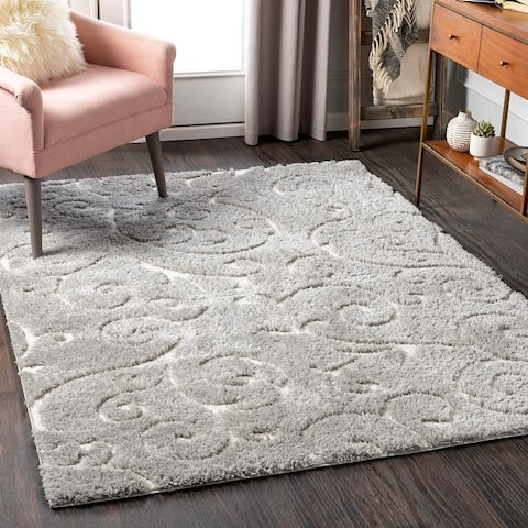 Gabbi Transitional Scroll Plush Area Rug