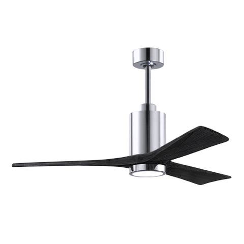 Matthews Fan Patricia-3 52-inch Polished Chrome Ceiling Fan with LED Light Kit