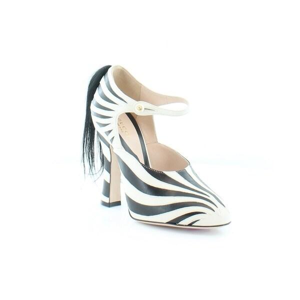 Gucci Lesley Women's Heels My. White/Nero/N - 6.5