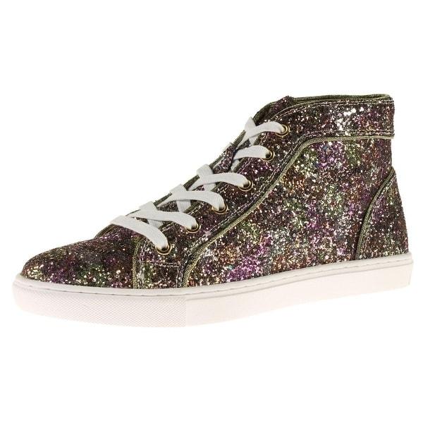 19c635b0a4b Shop Steve Madden Womens Levels-G Fashion Sneakers Glitter High Top ...
