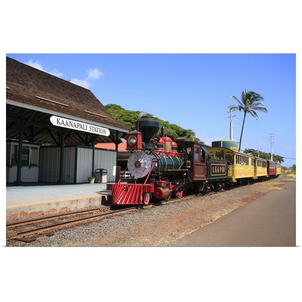 """Sugar Cane Train, Maui, Hawaii, U.S.A."" Poster Print"