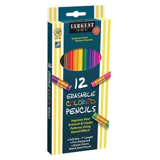 12Ct Sargent Erasable Clrd Pencil