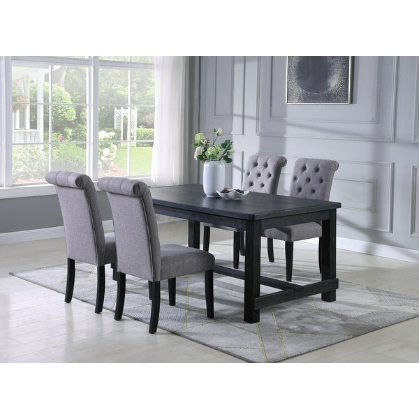 Leviton Antique Black Finished Wood Dining Set, Table with Four Chair. Opens flyout.