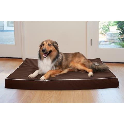 FurHaven Pet Bed Deluxe Indoor/Outdoor Water-Resistant Cooling Gel Dog Bed