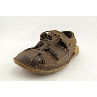 Hush Puppies Bergen Grady Men Round Toe Leather Brown Fisherman Sandal
