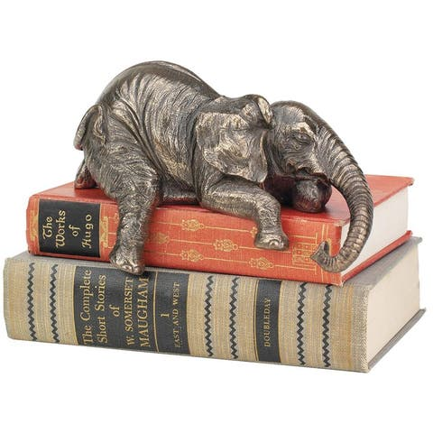 Design Toscano Ernest the Lounging Elephant Sitting Statue