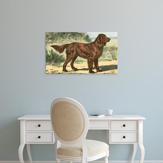 Easy Art Prints Unknown's 'Man's Best Friend I' Premium Canvas Art