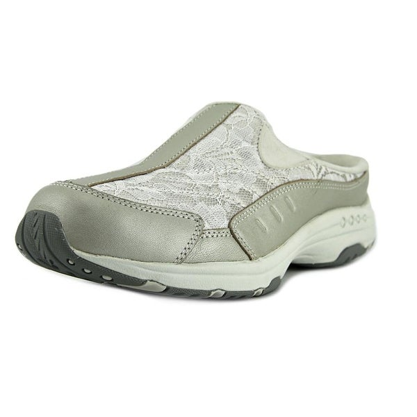 Easy Spirit Traveltime Women  Round Toe Leather Silver Walking Shoe