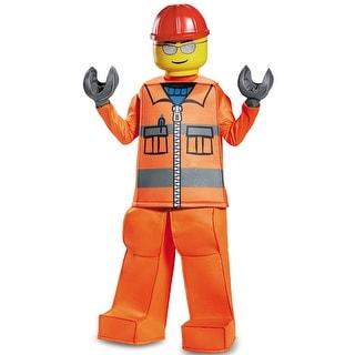Disguise Construction Worker Prestige Child Costume - Orange