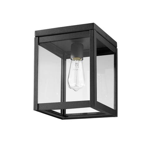 Simple Square Ceiling Outdoor in Black