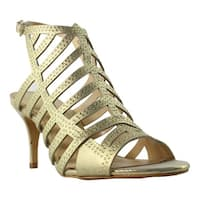 Vince Camuto Womens Vc-Patinka Gold Strappy Sandals Size 7