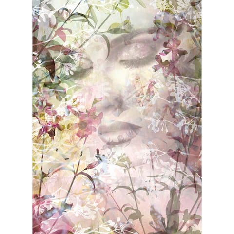"Brewster XXL2-065 Sense 72"" x 98"" Botanical Non-Pasted Repositionable - Pink"