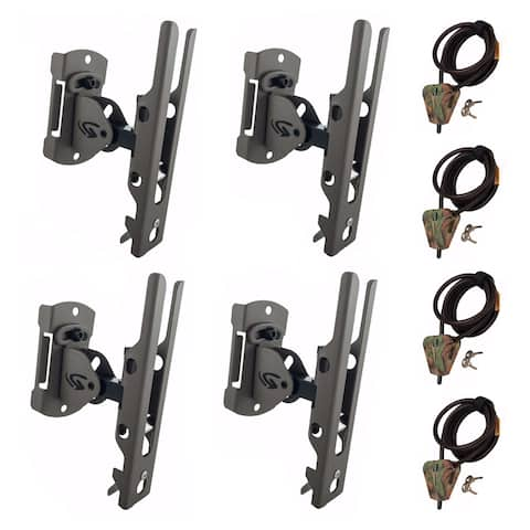 Cuddeback Genius Universal Trail Camera Mount and Cable Lock Kit (4-Pack)