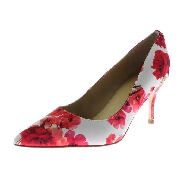 31d7f6cecda Shop Ivanka Trump Womens Boni 2 Dress Heels Satin Flower Print - Free  Shipping Today - Overstock - 19436906