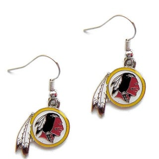 Washington Redskins Dangle Logo Earring Set Charm Gift NFL