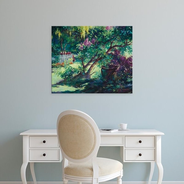 Easy Art Prints Julie G. Pollard's 'From Under the Lilac' Premium Canvas Art