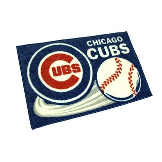 Officially Licensed Chicago Cubs Non-Skid Throw Rug 20 x 30 inch - Blue