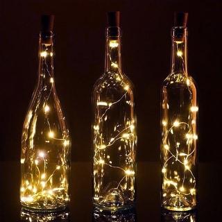 6Pcs Wine Bottle Cork Lights-1m 10 LED String Starry LED Lights
