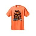Men's T-Shirt Biker Skull Flames Motorcycle Skeleton Rider Grim Reaper Chopper - Thumbnail 6