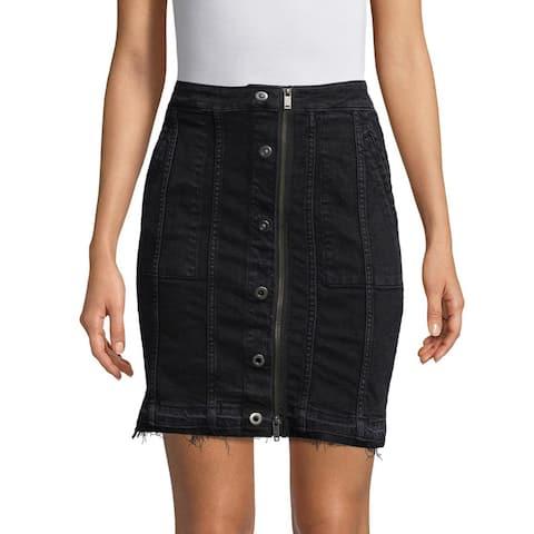 DL1961 Poppy Denim Skirt, Quinn, Large