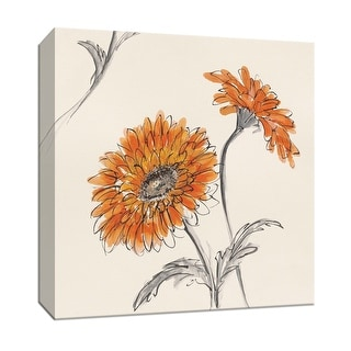 """PTM Images 9-153265  PTM Canvas Collection 12"""" x 12"""" - """"Orange Gerbera II"""" Giclee Flowers Art Print on Canvas"""