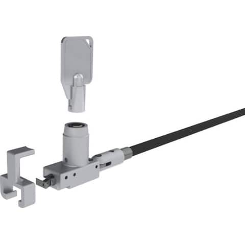 Noble security tz04t noble wedge lock with barrel key and cable trap, taa compliant