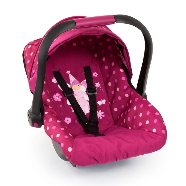 Baby Doll Deluxe Car Seat with Canopy- Polka Dots. Opens flyout.