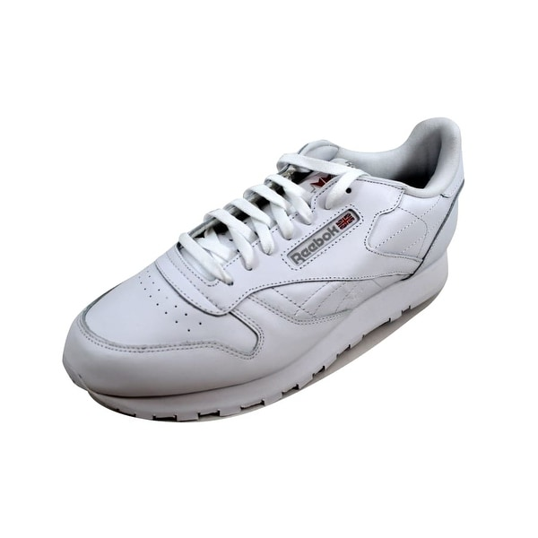 4360af741fc Shop Reebok Men s Classic Leather White White-Light Grey 9771 Size ...