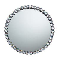 Sterling Industries 51-10018 Round Wall Mirror with Jewel Rim - Clear - N/A