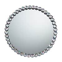 Sterling Industries 51-10018 Round Wall Mirror with Jewel Rim - Clear