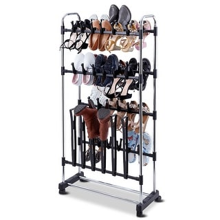 36 Pairs Clip On Shoe&Boot Rack Adjustable Storage Shelf Holder Space Organizer - as pic