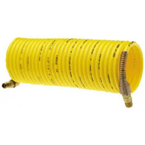 "Amflo 4-25E-RET Nylon Recoil Air Hose, Yellow, 1/4"" x 25'"