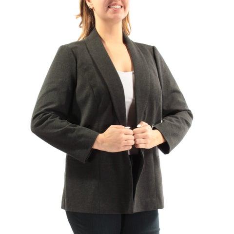 ALFANI Womens Gray Blazer Wear To Work Jacket Size: 12