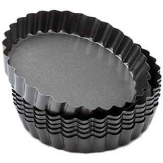 """Round 4"""" - Perfect Results Tart/Quice Pans 6/Pkg"""