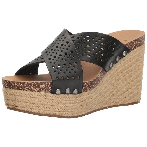 Lucky Brand Womens LK-NEEKA2 Leather Open Toe Casual Espadrille Sandals