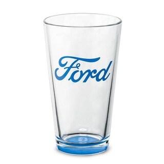 Ford 1427813 Ford Pub Glass, Clear & Blue - 16 oz