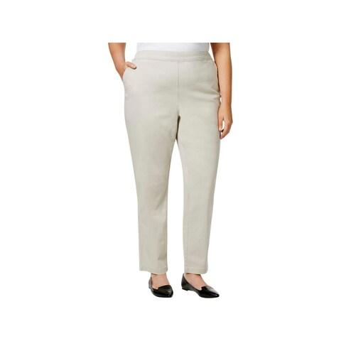 Karen Scott Womens Plus Casual Pants Comfort Waist Flat Frint