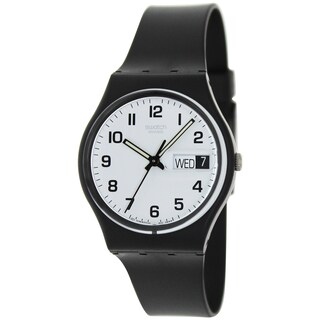 Swatch Men's Irony GB743 Black Rubber Swiss Quartz Fashion Watch
