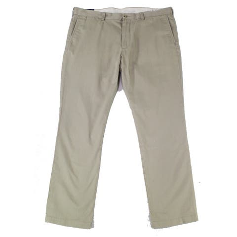 Polo Ralph Lauren Mens Pants Beige Size 38X30 Slim Fit Chino Stretch