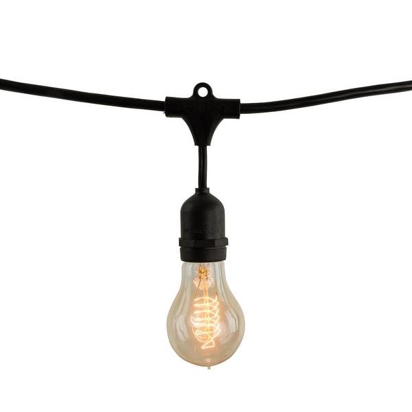 Bulbrite 810007 Nostalgic 14Ft Long Vintage Style String Light with Black Cord - N/A