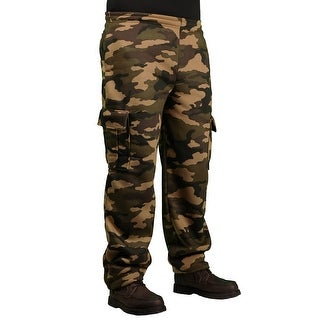 PJ Mark Men's Heavy Fleece Camouflage Cargo Pant